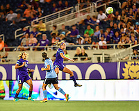 Orlando, FL - Saturday September 10, 2016: Dani Weatherholt during a regular season National Women's Soccer League (NWSL) match between the Orlando Pride and Sky Blue FC at Camping World Stadium.
