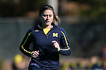 14 November 2015: Michigan's Katie Trombetta. The Wake Forest University Demon Deacons played the University of Michigan Wolverines at Francis E. Henry Stadium in Chapel Hill, North Carolina in a 2015 NCAA Division I Field Hockey Tournament First Round match. Michigan won the game 2-1.