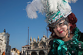 Venice, Italy, 8 February 2015. People wear traditional masks and costumes to celebrate the 2015 Carnival in Venice. carnivalpix/Alamy Live News