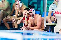 27-07-2019: WK waterpolo: Croatia v Hungary: Gwangju<br /> Official SUKNO Sandro (CRO) and #10 VRLIC Josip (CRO)<br /> Gwangju South Korea 27/07/2019<br /> Waterpolo M47 CRO - HUN<br /> 18th FINA World Aquatics Championships<br /> Nambu University Grounds <br /> Orange Pictures / Deepbluemedia / Insidefoto