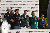 29th September 2017, Real Club de Polo de Barcelona, Barcelona, Spain; Longines FEI Nations Cup, Jumping Final; Brazil team during the final of Nations Cup