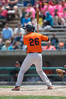 Austin Wynns (26) of the Frederick Keys at bat against the Lynchburg Hillcats at Calvin Falwell Field at Lynchburg City Stadium on May 14, 2015 in Lynchburg, Virginia.  The Hillcats defeated the Keys 6-3.  (Brian Westerholt/Four Seam Images)