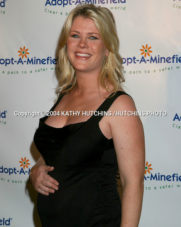 "©2004 KATHY HUTCHINS /HUTCHINS PHOTO.""ADOPT-A-MINEFIELD"" BENEFIT.CENTURY CITY, CA.OCTOBER 15, 2004..ALISON SWEENEY"