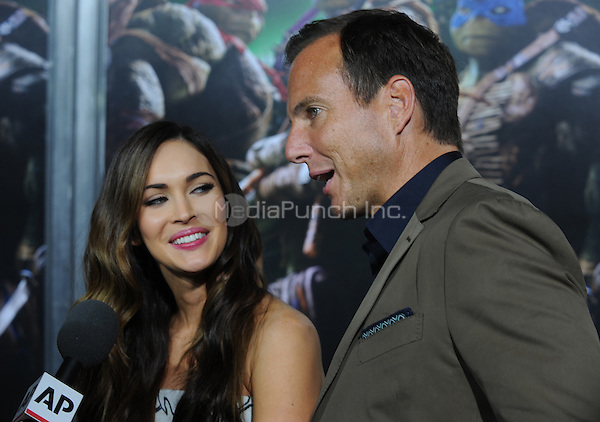 New York, NY- August 6: Megan Fox and Will Arnett attends the Teenage Mutant Ninja turtles screening on August 6, 2014 at the AMC in New York. Credit: John Palmer/MediaPunch