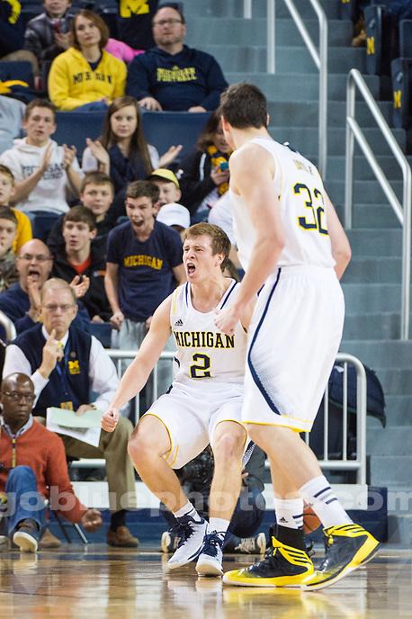 The University of Michigan men's basketball team falls to NJIT, 72-70, at Crisler Center in Ann Arbor, Mich. on December 6, 2014.