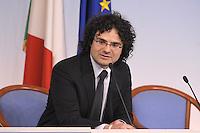Roma, 26 Mar 2012.Palazzo Chigi.Italiacamp - Centro di idee per lo sviluppo del Paese . Il Presidente dellAssociazione Fabrizio Sammarco