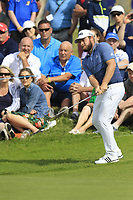 Tyrrell Hatton (ENG) chips onto the 14th green during Thursday's Round 1 of the Dubai Duty Free Irish Open 2019, held at Lahinch Golf Club, Lahinch, Ireland. 4th July 2019.<br /> Picture: Eoin Clarke | Golffile<br /> <br /> <br /> All photos usage must carry mandatory copyright credit (© Golffile | Eoin Clarke)