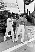 Rene Simard,Johnny Farago<br /> en 1981<br /> <br /> Photographe : Jacques Thibault<br /> <br /> - Agence Quebec Presse
