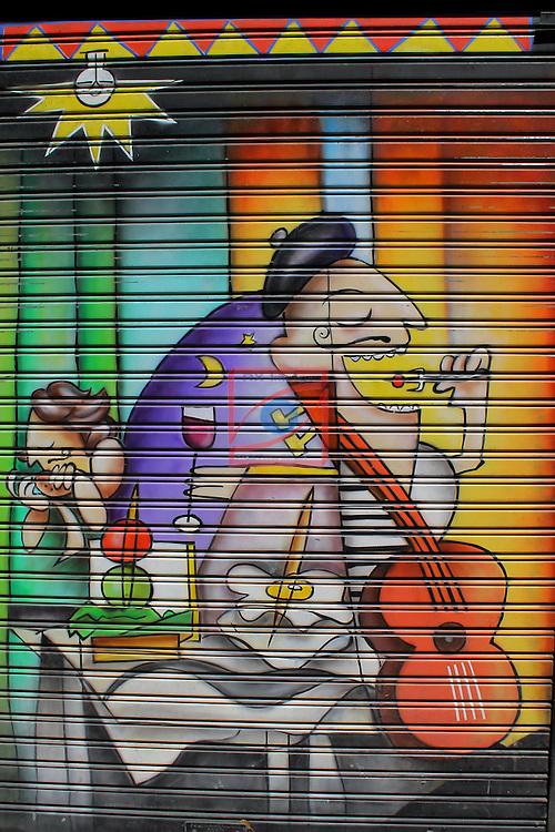 Street Art-Graffittis.<br /> Carrer de Blai.<br /> Barcelona-Poble Sec (Sans Montjuic).