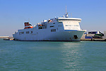Trasmediterranea ferry ship the Albayzin, port of Cadiz, Spain