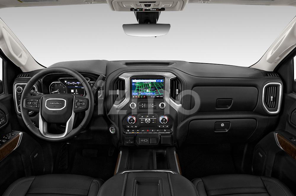 Stock photo of straight dashboard view of 2020 GMC Sierra-2500-HD Denali 4 Door Pick-up Dashboard