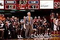 18 February 2012: Bruce Weber head coach of the Fighting Illini looks on as the game against the Nebraska Cornhuskers goes out of control for him and his team at the Devaney Sports Center in Lincoln, Nebraska. Nebraska defeated Illinois 80 to 57.