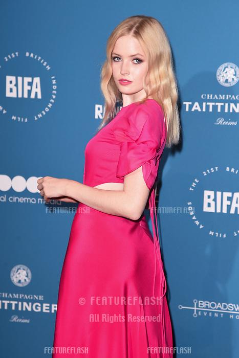 LONDON, UK. December 02, 2018: Ellie Bamber at the British Independent Film Awards 2018 at Old Billingsgate, London.<br /> Picture: Steve Vas/Featureflash