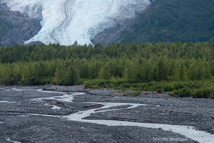 Glacier stream running from the base of Exit Glacier, Kenai Fjords National Park, Alaska