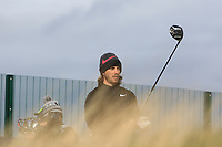 Tommy Fleetwood (ENG) on the 16th tee during round 4 of the Alfred Dunhill Links Championship at Old Course St. Andrew's, Fife, Scotland. 07/10/2018.<br /> Picture Thos Caffrey / Golffile.ie<br /> <br /> All photo usage must carry mandatory copyright credit (&copy; Golffile | Thos Caffrey)