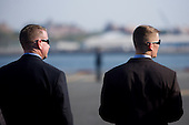 The Secret Service waits for United States President Barack Obama arrival in Manhattan on Marine One in New York City, New York on Wednesday, September 22, 2010..Credit: Emily Anne Epstein - Pool via CNP
