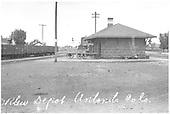 Antonito depot circa 1915.<br /> D&amp;RG  Antonito, CO  Taken by Lively, Charles R. - ca. 1915