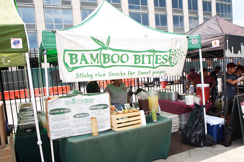 Brooklyn, NY - August 20, 2016:  Vendy Awards Best Vegan nominee Bamboo Bites.<br /> <br /> CREDIT: Clay Williams for Gothamist.<br /> <br /> &copy; Clay Williams / claywilliamsphoto.com