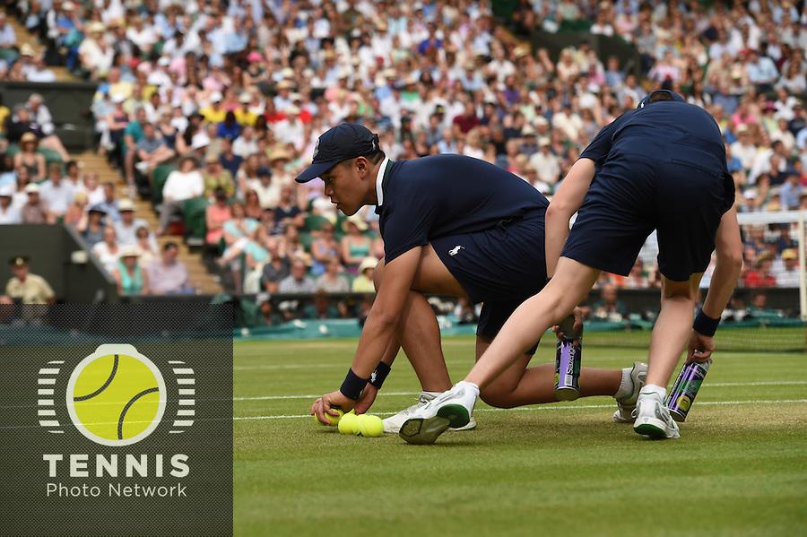 Wimbledon, 2/7/2014<br /> <br /> Ball boys<br /> <br /> <br /> © Ray Giubilo/ Tennis Photo Network