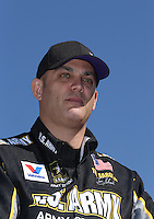 Feb. 14, 2013; Pomona, CA, USA; NHRA top fuel dragster driver Tony Schumacher during qualifying for the Winternationals at Auto Club Raceway at Pomona.. Mandatory Credit: Mark J. Rebilas-