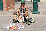 Didgeridoo player at the Calgary Stampede on Eight Avenue Mall