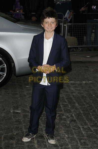Edgar Canham.'Now Is Good' - European Premiere arrivals, Curzon Mayfair Cinema, London, England..13th September, 2012.full length  white shirt blue suit .CAP/CAN.©Can Nguyen/Capital Pictures.