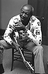 Jimmy Reed, 6/11/76. House at 5th & Hugo, San Francisco, American blues musician and songwriter notable for bringing his distinctive style of blues to white mainstream audiences. His lazy, slack-jawed singing, piercing harmonica and hypnotic electric guitar patterns were one of the blues' most easily identifiable sounds in the 1950s and 1960s.