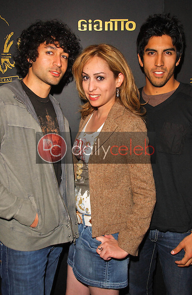 Maurizio Farhad with Jennifer Leeser and Joe Arquette<br />
