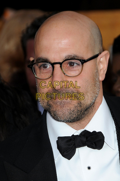 STANLEY TUCCI.16th Annual Screen Actors Guild Awards - Arrivals held at The Shrine Auditorium, Los Angeles, California, USA..January 23rd, 2009.SAG SAGs headshot portrait black white bow tie glasses beard facial hair .CAP/ADM/BP.©Byron Purvis/Admedia/Capital Pictures