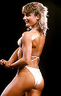 Atlantic City, April, 24, 1981. Lindsay Summers (England) at the Women's World Bodybuilding Championships.