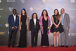 Dwight Yok, Gaile Lai, Gary McAllister and his wife, Lu Chiachun Anna, Hsu Shenchi Sherman walk the Red Carpet event at the World Celebrity Pro-Am 2016 Mission Hills China Golf Tournament on 20 October 2016, in Haikou, China. Photo by Marcio Machado / Power Sport Images