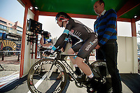 3 Days of De Panne.stage 3b: closing TT..Ryan Anderson on the start podium..