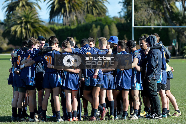 NELSON, NEW ZEALAND - JULY 6: Day 1 of the 2015 15s and 17s South Island Rugby League Tournament featuring West Coast v Tasman at Tahunanui Reserve  on July 6, 2015 in Nelson, New Zealand. (Photo by Marc Palmano/Shuttersport Limited)