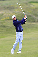 Ludvig Aberg (SWE) on the 4th during Round 3 of the Lytham Trophy, held at Royal Lytham & St. Anne's, Lytham, Lancashire, England. 05/05/19<br /> <br /> Picture: Thos Caffrey / Golffile<br /> <br /> All photos usage must carry mandatory copyright credit (© Golffile | Thos Caffrey)