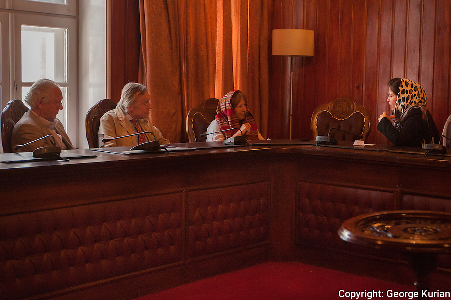 William Nygaard, Eugene Schoulgin, Elisabeth Eide and Afghan parliamentarian Fawzia Koofi.