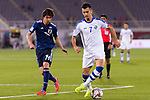 Sardor Rashidov of Uzbekistan (R) fights for the ball with Ito Junya of Japan (L) during the AFC Asian Cup UAE 2019 Group F match between Japan (JPN) and Uzbekistan (UZB) at Khalifa Bin Zayed Stadium on 17 January 2019 in Al Ain, United Arab Emirates. Photo by Marcio Rodrigo Machado / Power Sport Images