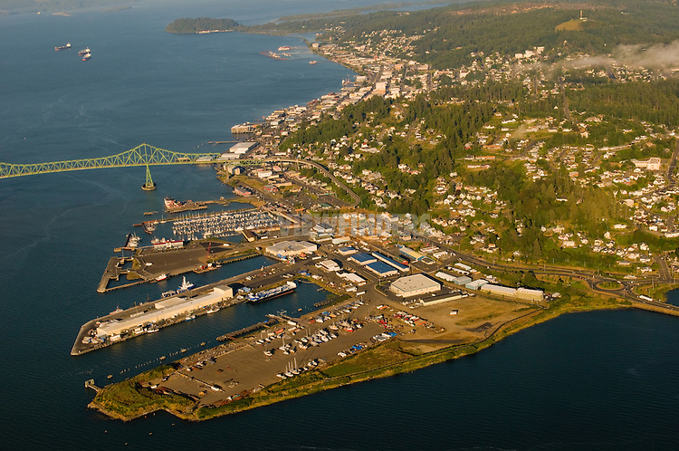 Aerial View of Astoria, Oregon