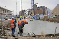 - Milano, cantiere per  l'Esposizione Mondiale Expo 2015; padiglione del Belgio<br />