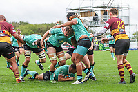 Luke Cole of Nottingham Rugby scores a try during the Greene King IPA Championship match between Ampthill RUFC and Nottingham Rugby on Ampthill Rugby's Championship Debut at Dillingham Park, Woburn St, Ampthill, Bedford MK45 2HX, United Kingdom on 12 October 2019. Photo by David Horn.
