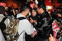 ***FOTO DE ARQUIVO***29.04.2014 - S&Atilde;O PAULO,SP,25.07.2014 - PRIS&Atilde;O DE MANIFESTANTE - O manifestante e professor Jefte Rodrigues durante a manifesta&ccedil;&atilde;o:N&atilde;o vai ter Copa.Rua Tuiuti, Shopping Metr&ocirc; Tatuap&eacute;,regi&atilde;o Leste da cidade de S&atilde;o Paulo.<br /> (Foto:Kevin David/Brazil Photo Press)