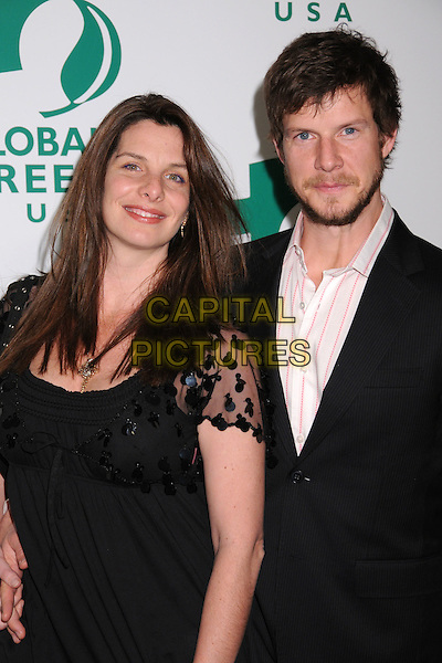 IVY & ERIC MABIUS.5th Annual Global Green USA Pre Oscar Party at Avalon, Hollywood, California, USA..February 20th, 2008.half length black dress suit jacket married husband wife beard facial hair .CAP/ADM/BP.©Byron Purvis/AdMedia/Capital Pictures.