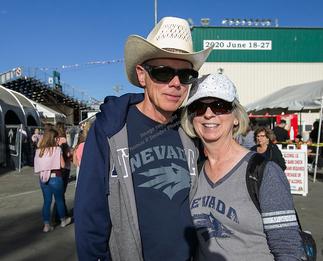 Jake and Pam during the Reno Rodeo Nevada Blue Night on Wednesday, June 26, 2019.