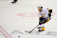 May 31, 2017: Nashville Predators center Filip Forsberg (9) in game action during game two of the National Hockey League Stanley Cup Finals between the Nashville Predators  and the Pittsburgh Penguins, held at PPG Paints Arena, in Pittsburgh, PA. The Penguins defeat the Predators 4-1 and lead the series 2-0. Eric Canha/CSM