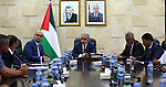Palestinian Prime Minister Mohammad Ishtayeh meets with members of committee of the defense of Wadi al-Hommus, in the west Bank city of Ramallah, August 04, 2019. Photo by Prime Minister Office