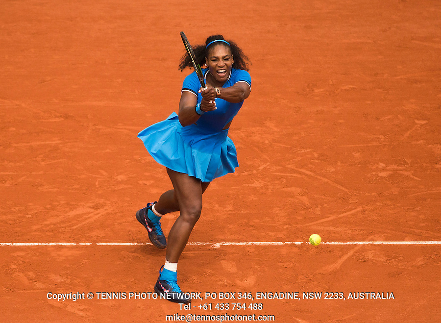 SERENA WILLIAMS (USA)<br /> <br /> TENNIS - FRENCH OPEN - ROLAND GARROS - ATP - WTA - ITF - GRAND SLAM - CHAMPIONSHIPS - PARIS - FRANCE - 2016  <br /> <br /> <br /> <br /> &copy; TENNIS PHOTO NETWORK