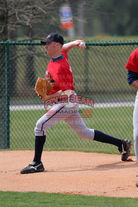 Atlanta Braves minor leaguer Trey Hodges during Spring Training at Disney's Wide World of Sports on March 14, 2007 in Orlando, Florida.  (Mike Janes/Four Seam Images)