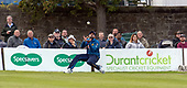 Issued by Cricket Scotland - Scotland V Sri Lanka 2nd One Day International at Grange CC, Edinburgh - Sri Lanka fielder <br /> Lahiru Thirimanne takes a catch at deep square leg to remove Scotland capt Kyle Coetzer - picture by Donald MacLeod - 21.05.19 - 07702 319 738 - clanmacleod@btinternet.com - www.donald-macleod.com