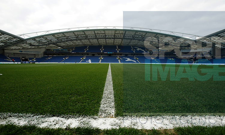 General view of the stadium during the premier league match at the Amex Stadium, London. Picture date 17th April 2018. Picture credit should read: David Klein/Sportimage