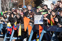 NEW YORK - NOVEMBER 7: Fans cheer the runners near the Brooklyn Academy of Music during the 2010 New York City Marathon.