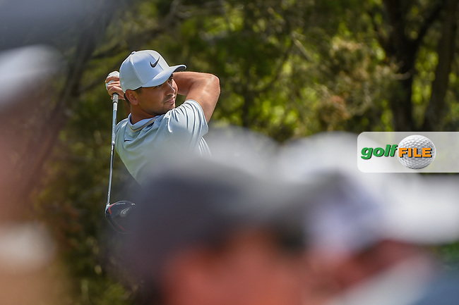 Jason Day (AUS) watches his tee shot on 2 during day 1 of the WGC Dell Match Play, at the Austin Country Club, Austin, Texas, USA. 3/27/2019.<br /> Picture: Golffile | Ken Murray<br /> <br /> <br /> All photo usage must carry mandatory copyright credit (© Golffile | Ken Murray)